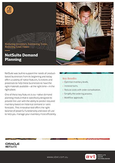 AVT NetSuite - Demand Planning Module DS