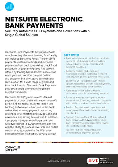 Electronic Payments Module DS