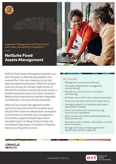 AVT NetSuite - Fixed Assets Management Module DS