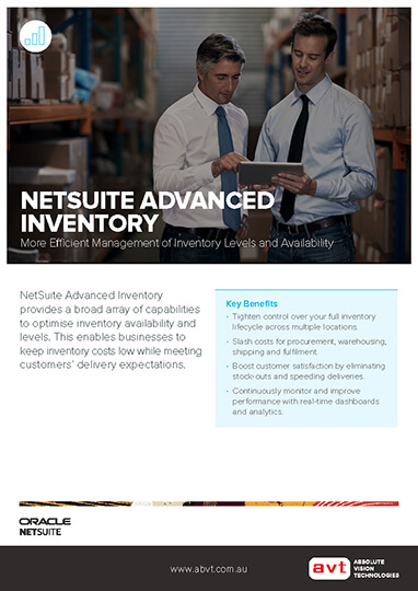 AVT NetSuite Inventory Management Module DS