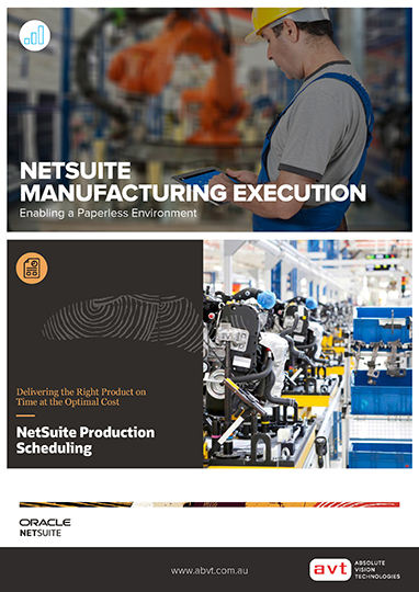 NetSuite Manufacturing Execution Module + NetSuite Production Scheduling Module DS