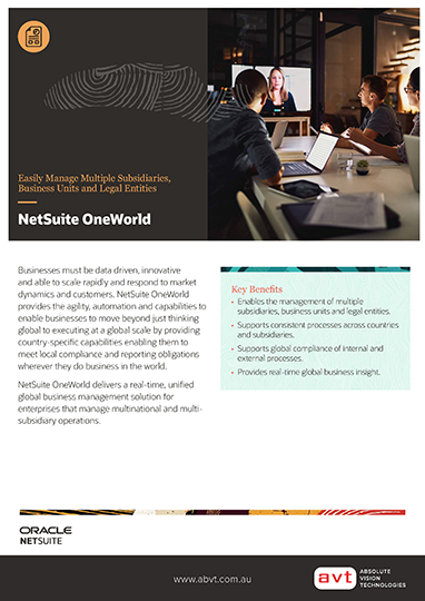 NetSuite - OneWorld Module DS