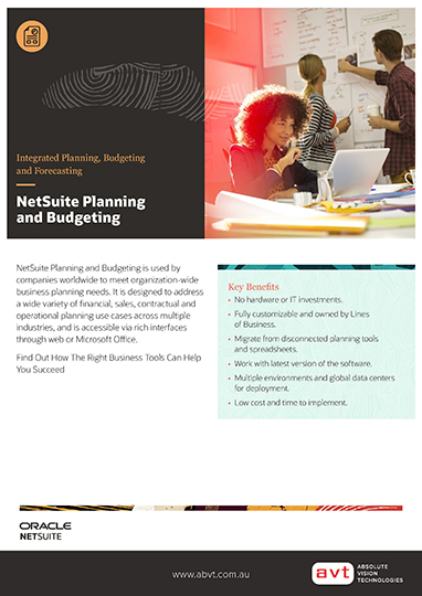NetSuite - Planning and Budgeting DS