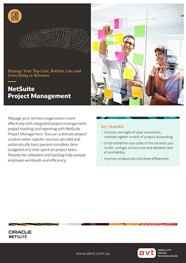 AVT NetSuite - Project Management Module DS