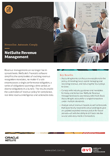 NetSuite Revenue Management Module DS