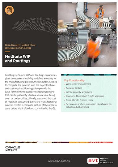 AVT NetSuite - WIP - Routings Module DS