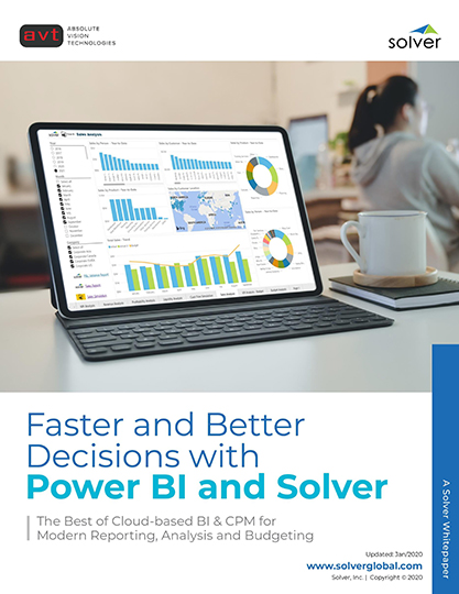AVT Faster and Better Decisions with Power BI