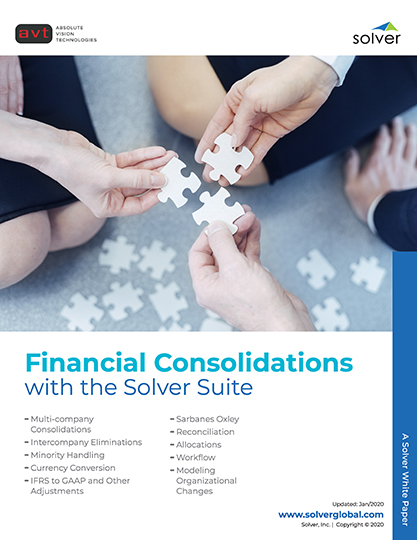 AVT Solver Financial Consolidations DataSheet