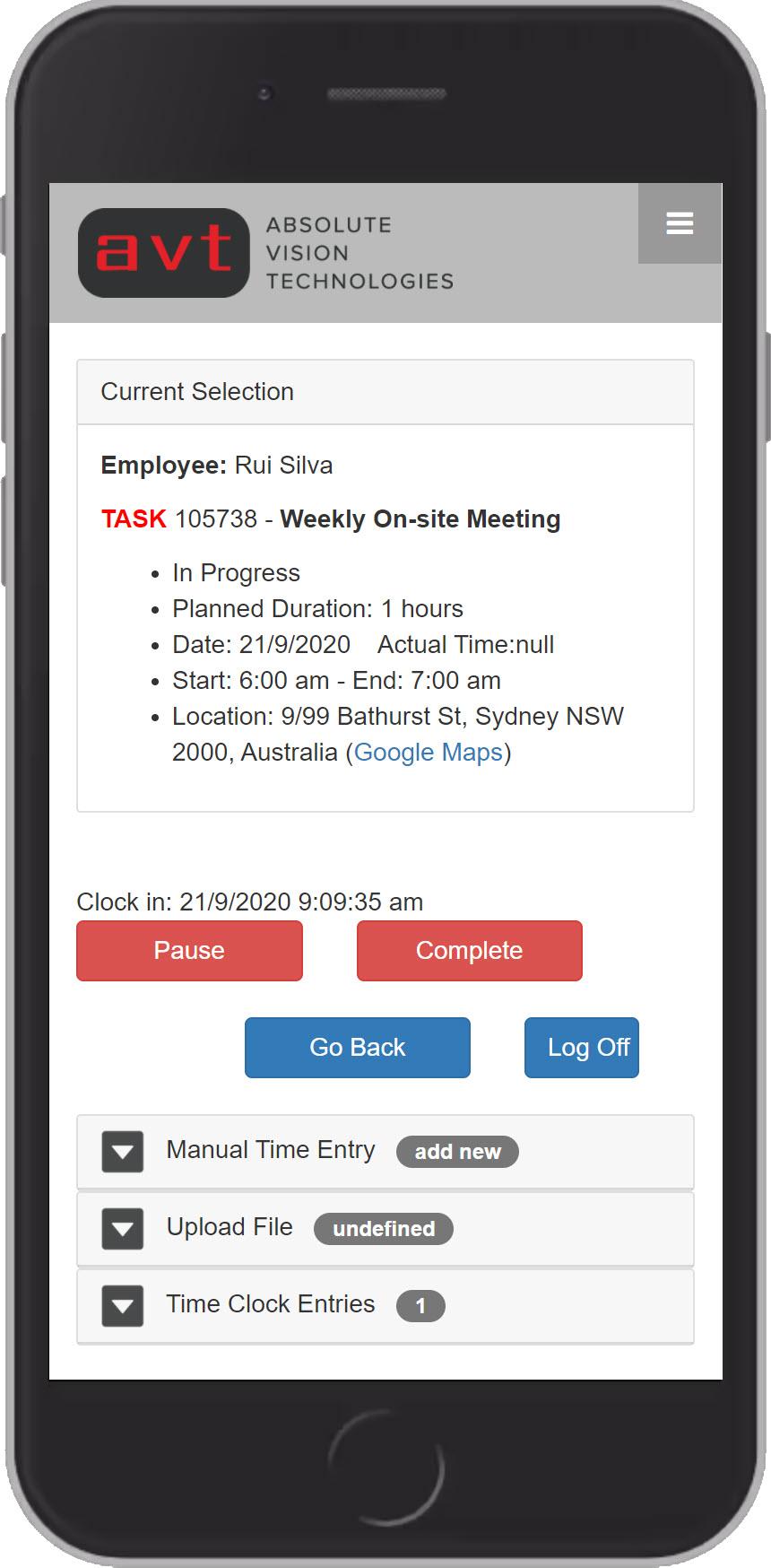 AVT Time tracking suiteApp