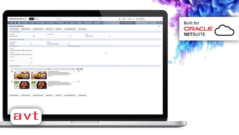 AVT SuiteApp - AVT Product Configurator & CPQ for NetSuite